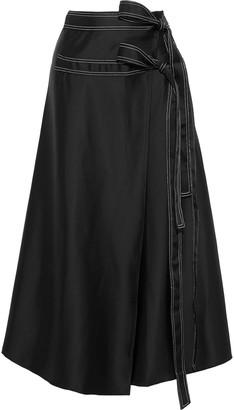Beaufille Ida Satin Midi Wrap Skirt