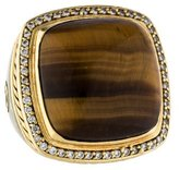 David Yurman Tiger's Eye & Diamond Ring