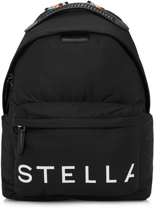 Stella McCartney Black Logo Nylon Backpack