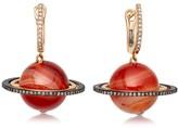 Agate Saturn Drop Earrings