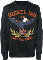 Diesel embroidered sweatshirt