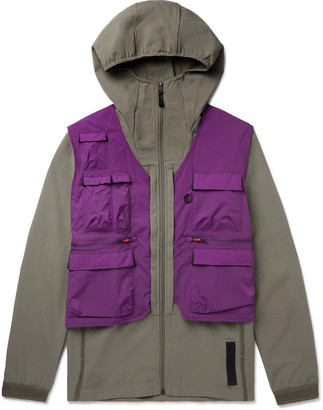 adidas Terrex Convertible Stretch-Shell And Ripstop Jacket