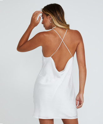 Alice In The Eve Madison Backless Slip Dress Ivory
