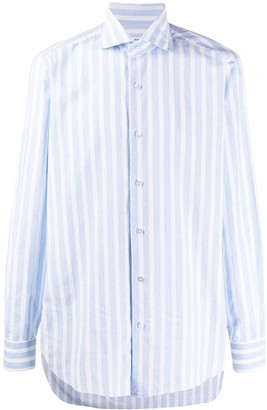 Barba Striped Spread-Collar Shirt