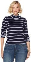 Melissa McCarthy Striped Turtleneck Sweater