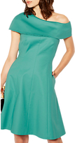 Karen Millen Double Layer Skater Dress, Teal