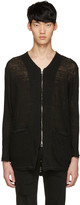 Diet Butcher Slim Skin Black Long Zip Cardigan