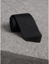 Burberry Slim Cut Check Silk Tie, Black