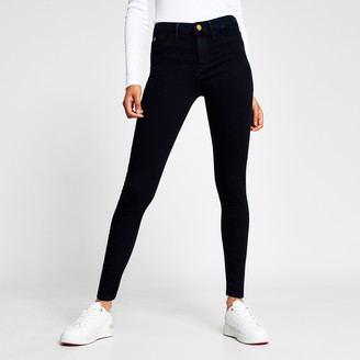 River Island Womens Navy Molly mid rise jeggings