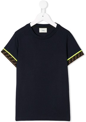 Fendi logo sleeve T-shirt