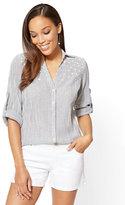 New York & Co. Soho Soft Shirt - Stripe & Star Print
