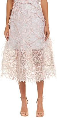 Carolina Herrera Silk-Lined Midi Skirt