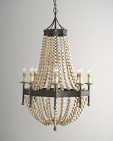 Regina-Andrew Design Wood Bead 8-Light Chandelier