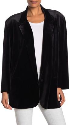 Norma Kamali Oversized Velvet Blazer