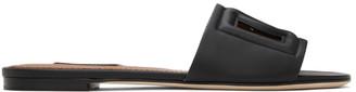 Dolce & Gabbana Black Millennials Logo Sandals