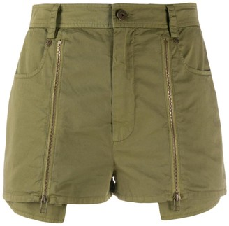 Mr & Mrs Italy Popeline Shorts For Woman With Zippers