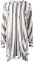 Brunello Cucinelli long striped shirt