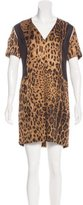 Sandro Wool & Silk-Blend Printed Dress
