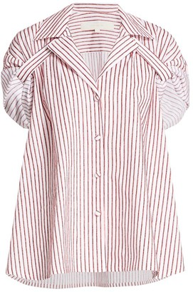 By Any Other Name Striped Button Tab Top