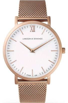 Larsson & Jennings Mens Lugano 40mm Watch LJ-W-CMROSE-O-RG