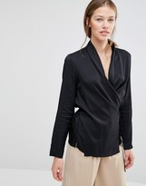 Just Female Wrap Blouse