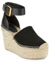 Marc Fisher Aaron Perforated Wedge Platform Sandals