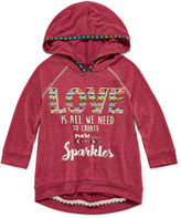 Beautees 2-pc. 3/4-Sleeve High-Low Hoodie with Necklace - Girls 7-16