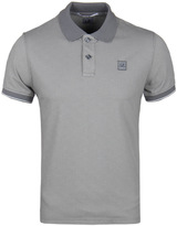 Cp Company Steel Grey Tacting Short Sleeve Polo Shirt