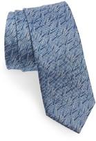 Lanvin Men's Brushstroke Silk Skinny Tie