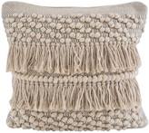 Karma Living Woven Decorative Pillow - 18 x 18 - Gold