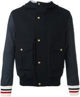 Moncler Gamme Bleu hooded bomber jacket - men - Nylon/Cupro/Virgin Wool - 2