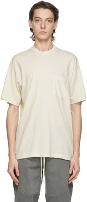 John Elliott White Faded Pocket T-Shirt