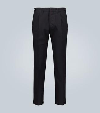 Thegigi Pleated cotton-twill pants