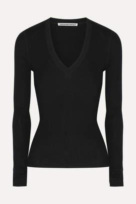 Alexander Wang Wash & Go Merino Wool Sweater - Black
