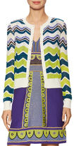M Missoni Multistripe Intarsia Knit Cotton Cardigan