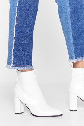 Nasty Gal Womens Step Outta Your Comfort Zone Faux Leather Boots - White
