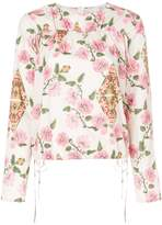 Marni ruched floral blouse