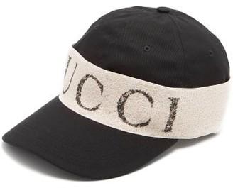 Gucci Logo-print Cotton Cap - Mens - Black
