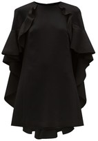 Giambattista Valli Cape Back Cotton-blend Crepe Dress - Womens - Black