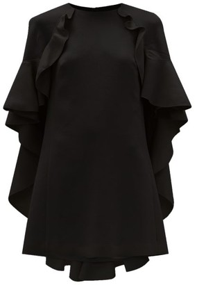 Giambattista Valli Cape Back Cotton-blend Crepe Dress - Black