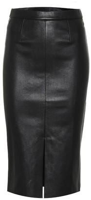 STOULS Carmen leather midi pencil skirt