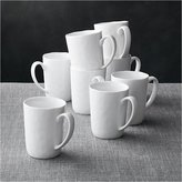 Crate & Barrel Set of 8 Mercer Mugs