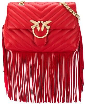 Pinko Love fringed crossbody bag