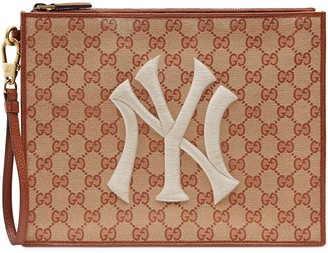 Gucci Original GG pouch with NY Yankees patch