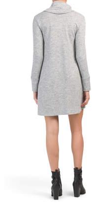 Full Cowl Neck Long Sleeve Dress