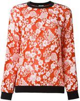 Kenzo floral jacquard sweatshirt - women - Polyester/Acetate/Triacetate/Viscose - S