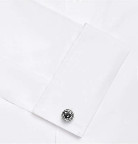Deakin & Francis Gimbal Rhodium-Plated Quartz Cufflinks