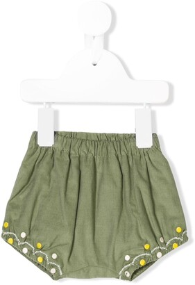 Knot Embroidered Bloomer Shorts