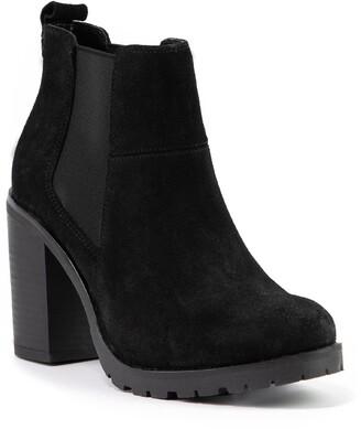 Crevo Alicia Suede Platform Chelsea Boot