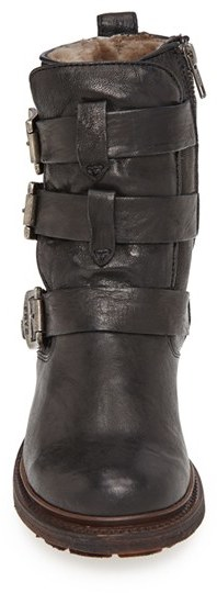 Frye 'Valerie' Shearling Lined Strappy Boot (Women)